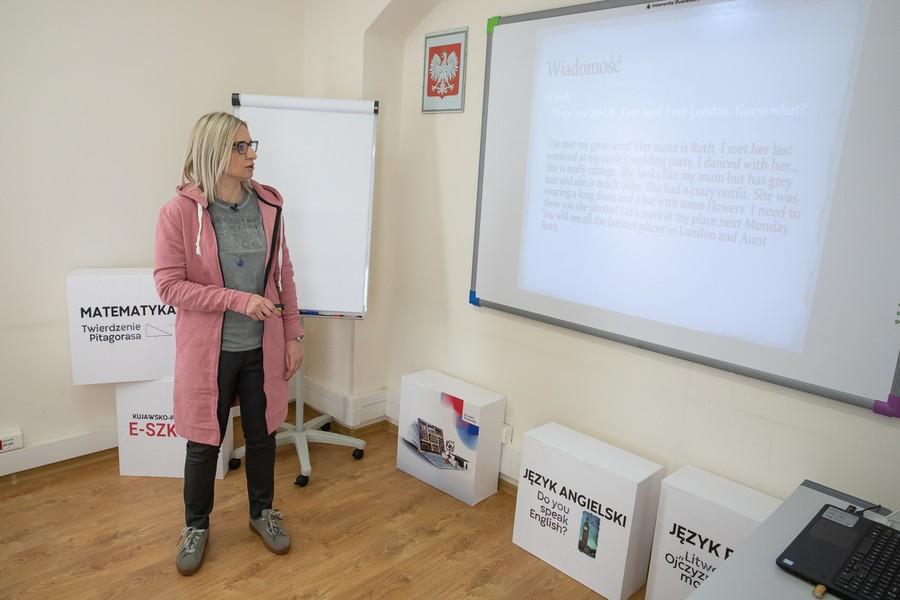 Zajęcia z języka angielskiego w ramach e-Szkoły